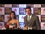 Акшай Кумар, Нимрат Каур и Ирфан Кхан на Star Screen Awards 2016.