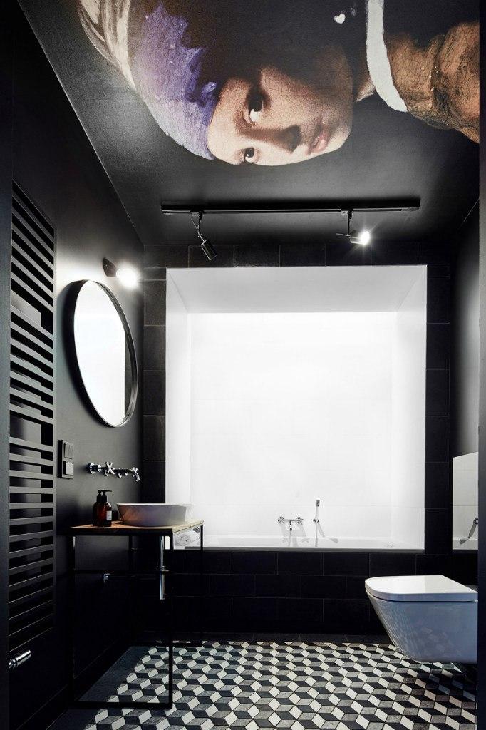 Минималистичный интерьер студии 27 м в Польше.