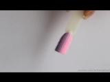 МК дизайна ногтей Свитер градиентный, техникой бархатный песок.