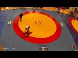 Нокаут 3 Жесткий лоу-кик Боевое самбо Чемпионат России 2016 Заур Азизов (Синий)