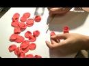 Как лепить цветы из мастики Мастер класс по лепке роз How to sculpt flowers from mastic Roses