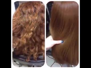 Кератиновое восстановление и выпрямление волос. Лилия Кератин. Cocochoco gold