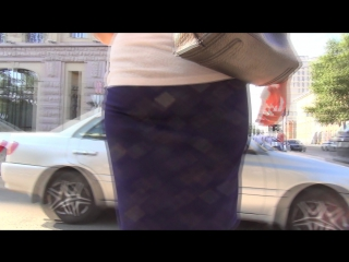 SEXy Girl !!! BIG Ass !!! ШИКарная девушка в с большой попой в короткой юбке !!!