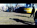 Авария трамвай и митсубиси.