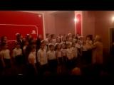 Выступление сводного хора младших классов. 21 мая 2016
