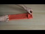 Лайфхак как компактно сложить полотенце (YouTube)