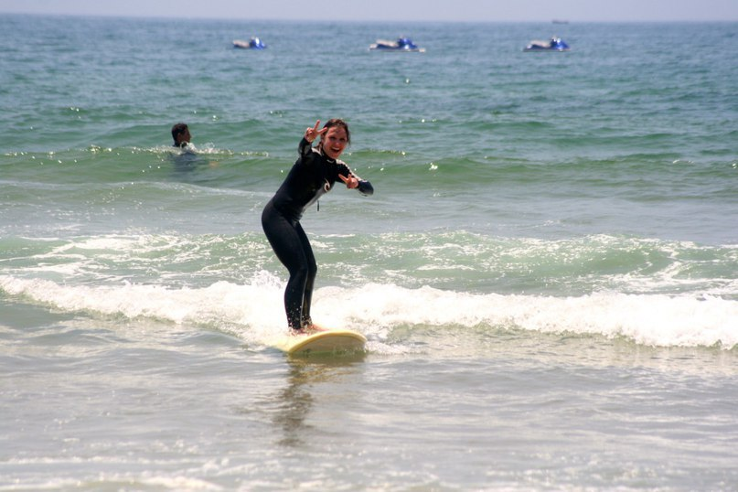 Nastiya Surfing at Adventurekeys