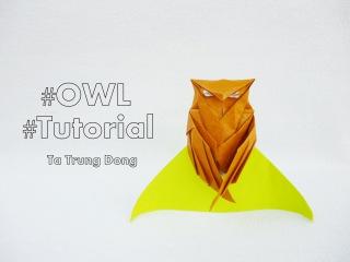 Origami owl tutorial / Chim cú mèo - (Tạ Trung Đông)
