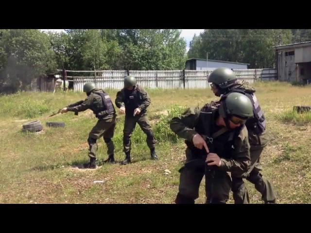 эпизоды из тренировок СОБР Уральской оперативной таможни