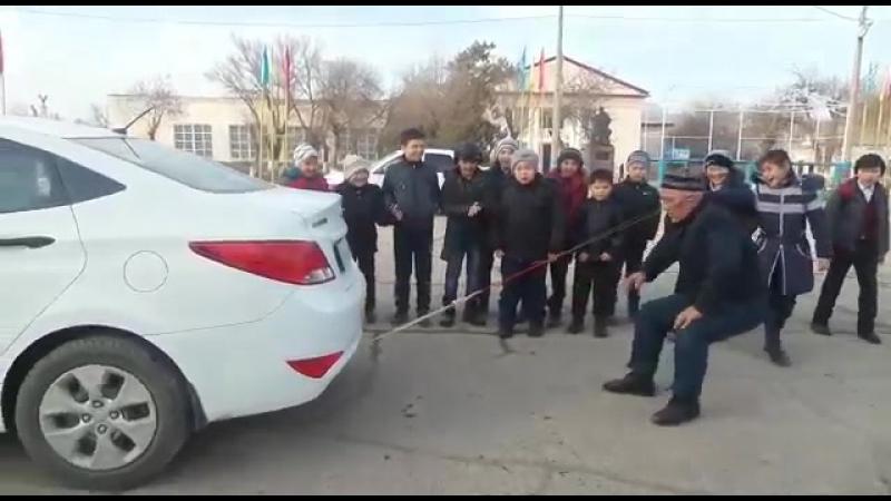 Құлағымен көлік сүйрейтін Берік Әбілханұлы