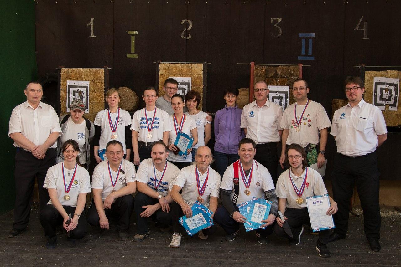 Призеры чемпионата Москвы по метанию ножа