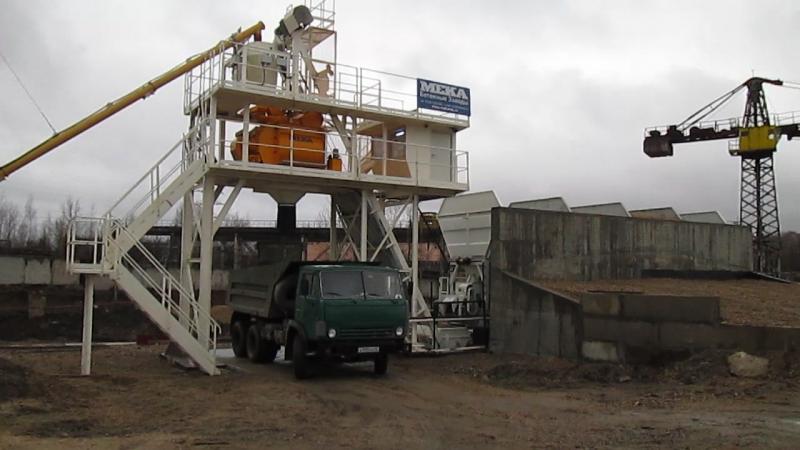 Видео от наших Заказчиков: бетонный завод MEKAMIX-60 COMPACT, г. Калуга