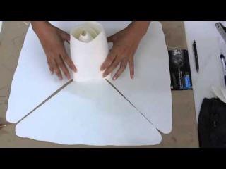 Hướng dẫn làm hoa hồng trang trí backdrop tiệc cưới sinh nhật(How to make paper ROSE)