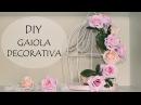 DIY: COMO FAZER GAIOLA DECORATIVA com Flores e Pérolas (Decoração Quarto e Casamento) diyfestas