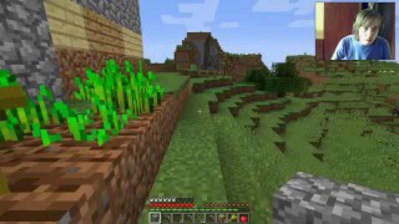 как я пастроил домик с дерева и зделол алмазный меч