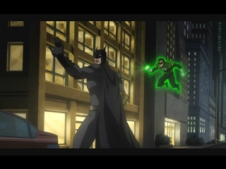 """Бэтмен с Зелёным Фонарём против Супермена (из м/ф """"Лига Справедливости: Война"""")"""
