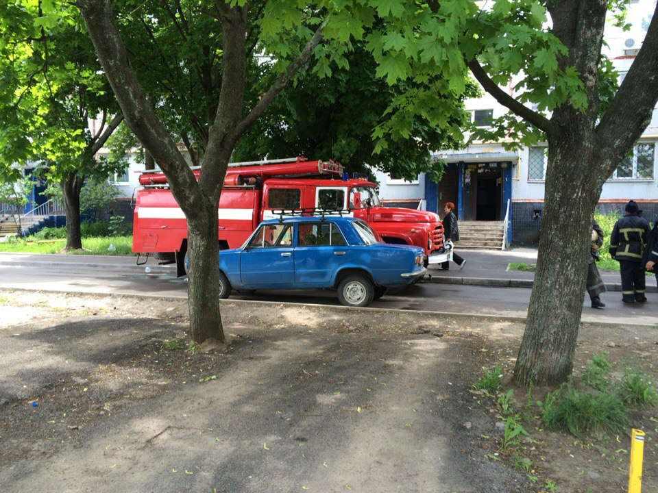 Пожар на Салтовке (ФОТО, ВИДЕО)