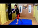 Удары на крест рука-нога прямой лоу кик - киокушин каратэ -муай тай MMA - kyokushin karate UFC Venum