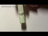 Имитация ракушки на ногтях - маникюр гель лак - уроки дизайна Донецк