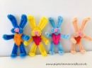 How to make a pipe cleaner bunny