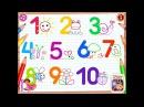 мультики для детей 3 лет - учимся считать до 10 развивающий мультик.развивающие му...