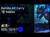 Kalista AD Carry vs Ezreal - Rekkles - EUW Challenger Patch 6.11