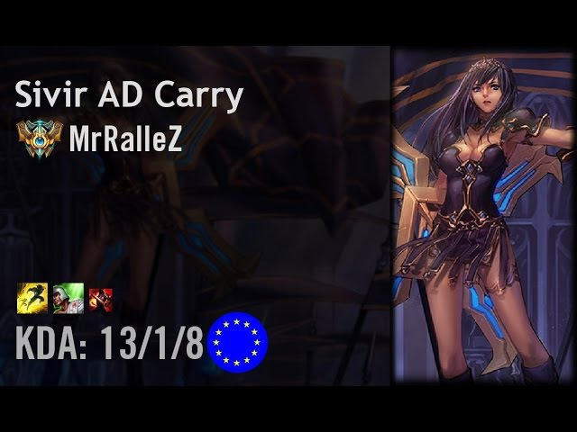 Sivir AD Carry vs Caitlyn - MrRalleZ - EUW Challenger Patch 6.11