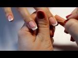 Французский  маникюр на нарощенные ногти