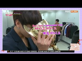 [RUS SUB][19.12.15] BTS @ Show Champion Backstage