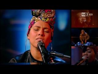 Алиша Киз \ Alicia Keys — In Common (Live Che tempo che Fa) 12 06 2016 елешоу «Che Tempo Che Fa», Милан, Италия.