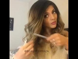 Укладка волос с локонами