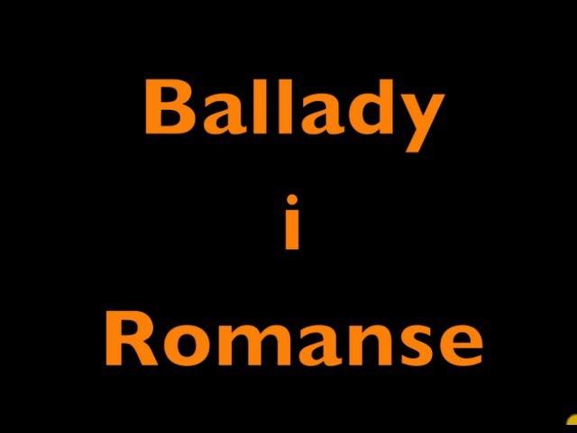 Ballady i Romanse Adam Mickiewicz Audiobook