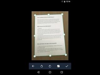 Сканер докуметов для Android с помощью камеры в PDF формат