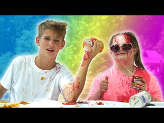 Eat It or Wear It Challenge! (MattyBRaps vs Sarah Grace)