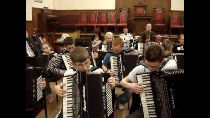 The Final Countdown Jimmy Blair Accordion Orchestra Sep.'09 -Rehearsal
