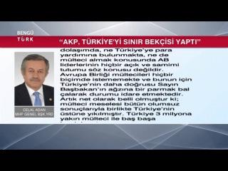 'AKP, TÜRKİYE'Yİ SINIR BEKÇİSİ YAPTI' - CELAL ADAN