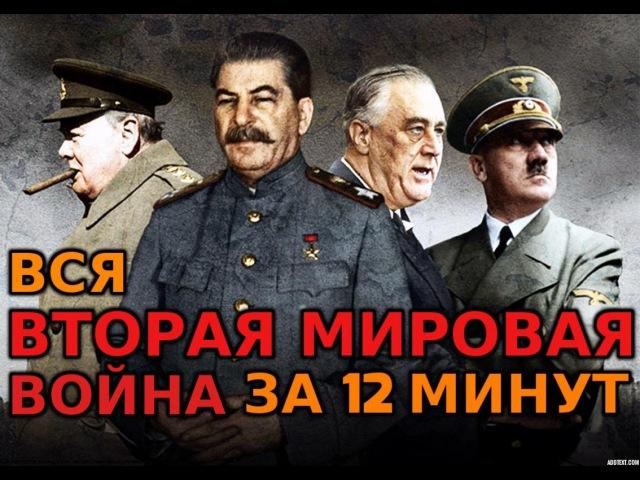 Вторая Мировая Война за 12 минут