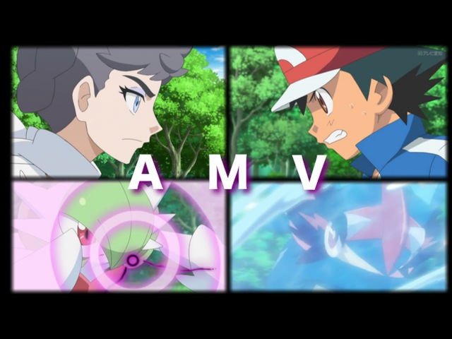 Pokemon XYZ Ash Vs Diantha AMV Never Back Down (Greninja,Gardevoir)