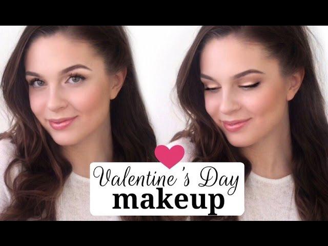 ♡ Макияж на День Святого Валентина ♡ Нежный романтичный макияж на свидание | Valen...