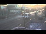 Утреннее ДТП на перекрестке 7-я Северная и Герцена, 30.03.2016. Омск