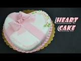very simple and fast heart cake tutorial - torta pasta di zucchero per la mamma a forma di cuore