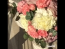Свадебный букет Роза и гвоздики