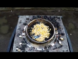 Molten Copper vs Popcorn