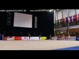 Арина Аверина - мяч (опробование площадки)  Гран При Брно 2016