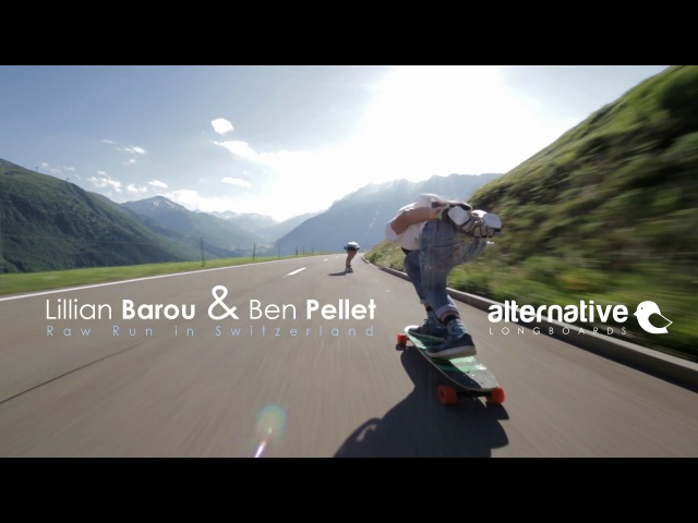 Lillian Barou Ben Pellet - Raw Run in Switzerland / Alternative Longboards