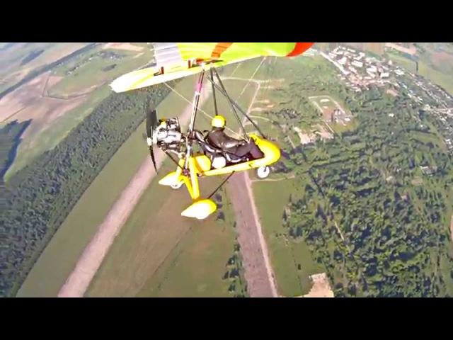 Прыжок с дельталета / Ultralight trike and Skydiving