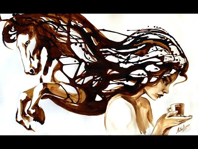 COFFEE ART. LUBA DIKER. КОФЕЙНЫЕ КАРТИНЫ ЛЮБЫ ДИКЕР