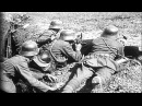 German soldiers fire machine guns and advance from their trenches in World War I. HD Stock Footage