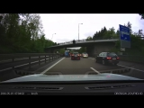 Tesla Model S adaptive cruise control crashes into Van