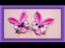 DIY craft ideas How To Make a Bunny craft ribbons Поделка зайчик из лент